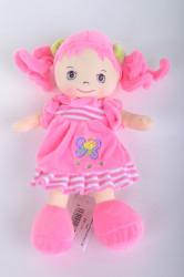 Plyšová bábika svetloružová (v. 28 cm)