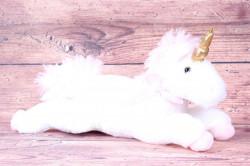 Plyšová hračka JEDNOROŽEC - ružovo-biely (d. 46 cm)