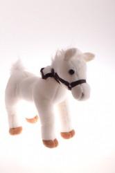 Plyšová hračka KONÍK so zvukom - biely (27x29 cm)