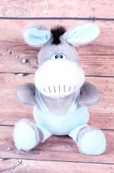 Plyšová hračka OSLÍK - bledomodro-sivá (v. 35 cm)