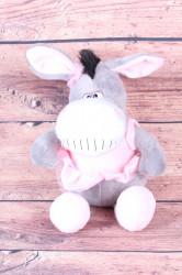 Plyšová hračka OSLÍK - ružovo-sivá (v. 35 cm)