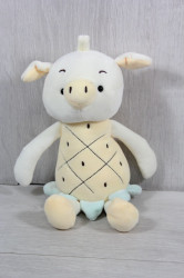 Plyšová hračka PRASIATKO (99082) - žltá (v. 33 cm)