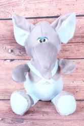 Plyšová hračka SLONÍK - bledomodro-sivá (v. 38 cm)