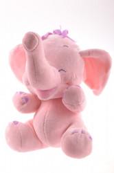 Plyšová hračka SLONÍK ružový (25 cm)