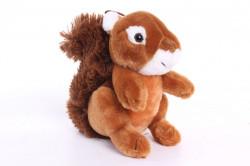 Plyšová hračka VEVERIČKA - hnedá (15 cm)