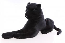 Plyšový LEOPARD - čierny (24x48 cm)