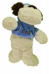 Plyšový psík v modrom tričku