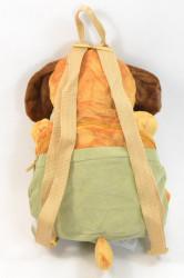 Plyšový vak psík v zelených nohaviciach - hnedý (v. 38 cm) #1