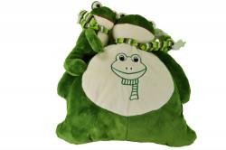 Plyšový vankúšik - žaba
