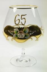 Pohár na 65. narodeniny - biely