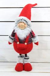 Postavička dedko v červených šatách (v. 56 cm)