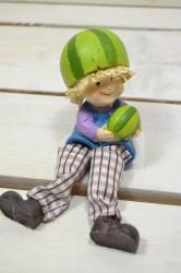 Postavička MELÓNIK - chlapček sediaci (15 cm) veľkosť UNI