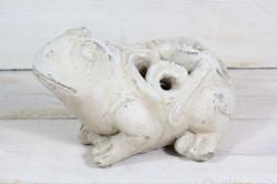 Postavička ŽABA - maslová (20x11,5x12,5 cm)