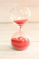 Presýpacie hodiny - červený piesok