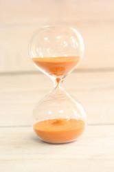 Presýpacie hodiny - oranžový piesok