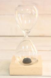 Presýpacie hodiny s magnetkou - čierny piesok