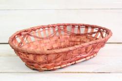 Prútený košík (29,5x6,5x14,5 cm) - hnedý