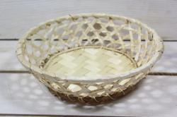 Prútený košík (p. 20 cm, v. 5,5 cm)