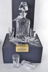 Sada na likér 6 pohárov+fľaša (bohemia kryštál)