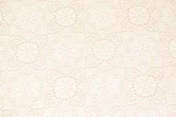 Saténová látka - veľký čipkovaný vzor - sivá (š.160 cm)