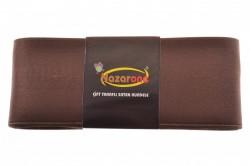 Saténová stuha  (š. 6cm) - hnedá veľkosť UNI
