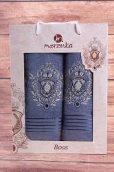 Set uterákov v darčekovom balení ERB - modrý (50x80cm, 70x130 cm)