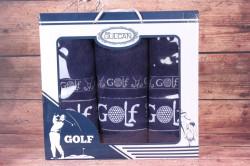 Set uterákov v darčekovom balení GOLF - tmavomodrý (2 ks 50x90 cm, 1 ks 70 x140 cm)