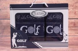 Set uterákov v darčekovom balení GOLF tmavomodrý (50x90cm, 70x140 cm)