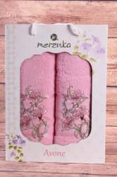 Set uterákov v darčekovom balení KVETY ružové (50x90cm, 70x140 cm)