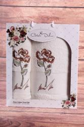 Set uterákov v darčekovom balení RUŽA krémová (50x90cm, 70x140 cm)