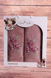 Set uterákov v darčekovom balení RUŽE staroružové (50x90cm, 70x140 cm)