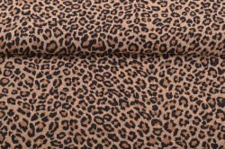 Šifon s leopardím vzorom - Leo (m) - š.150