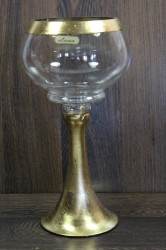 Sklenený kalich - zlatý (v. 28,5 cm)