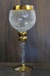 Sklenený kalich - zlatý (v. 30 cm)