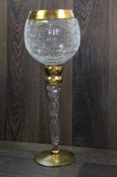 Sklenený kalich - zlatý (v 35 cm)
