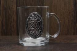 Sklenený pohár na 20. narodeniny (0,3 l)