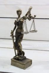Socha spravodlivosti JUSTÍCIA (v. 18,5 cm) vzor 985 - staré zlato
