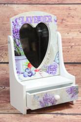 Šperkovnica s 1 šuflíkom a so zrkadlom