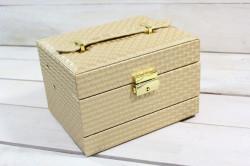 Šperkovnica - zlatá 2. (16,5x10,5x12 cm)