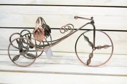 Stojan na fľašu - bicykel (35x18 cm)