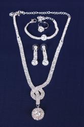 Súprava šperkov (náhrdelník, náušnice, náramok a prsteň) VZOR 5.