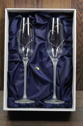 Svadobné poháre so swarovski krištáľmi (VZOR 7.)