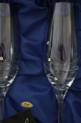 Svadobné poháre so swarovski krištáľmi (VZOR 8.) #1