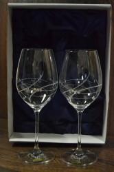 Svadobné poháre so swarovski kryštáľmi (VZOR 6)