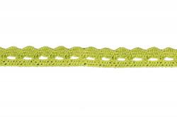 Trávovo-zelená krajka (m) - š.1,5 cm