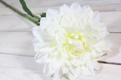 Umelá DÁLIA - biela (v. 78 cm)