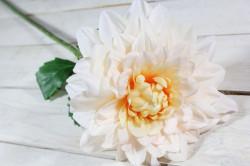 Umelá DÁLIA - bielo- broskyňová (v. 78 cm)