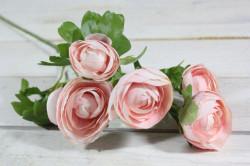 Umelá kytica KAMÉLIA - ružová (v. 63 cm)
