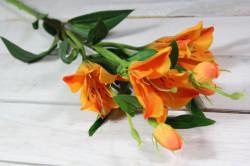 Umelá kytica ĽALIA - oranžová (v. 80 cm)