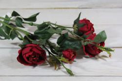 Umelá kytica RUŽÍ - bordové (v. 69 cm)